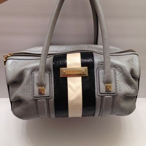 L.A.M.B by Gwen Stephani grey Boston bag embossed